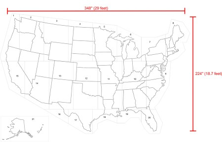 shop stencil ease 29' x 19' united states map stencil at