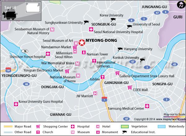 map seoul hotels