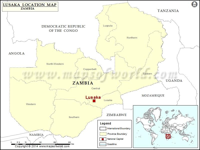 map lusaka