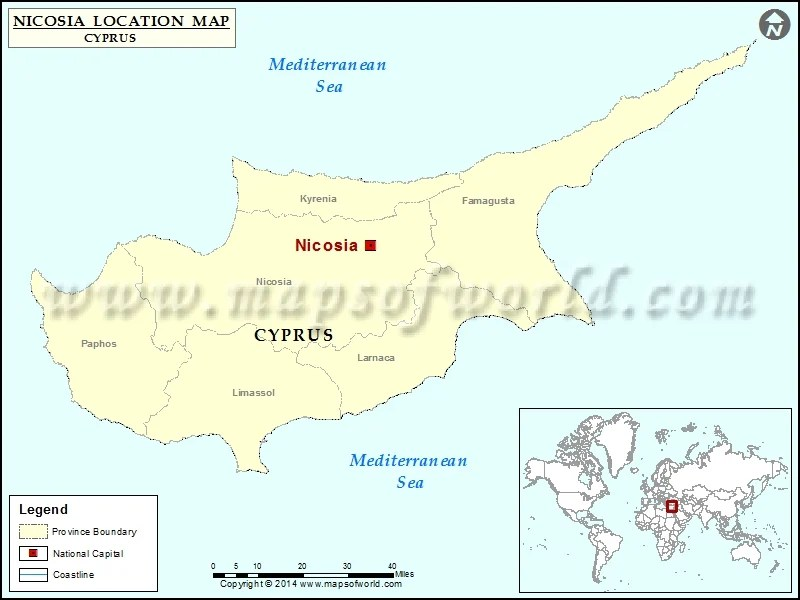 map nicosia