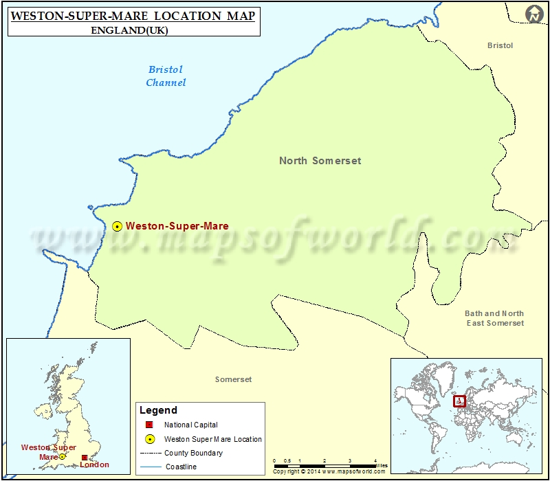 map weston super mare