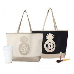 Medium Of Monogrammed Tote Bags