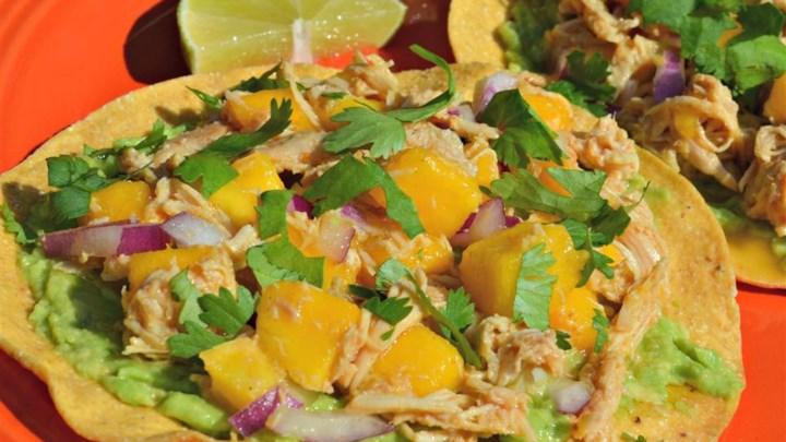 Paleo Mini Chicken and Mango Tostadas