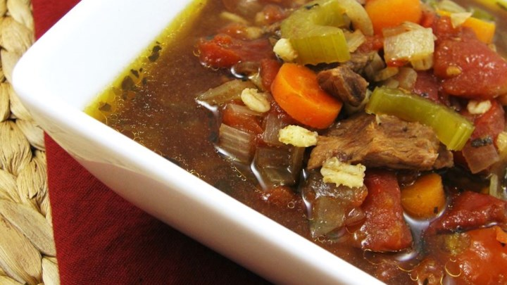 Paleo Grandma Coffee's Beef Barley Vegetable Soup