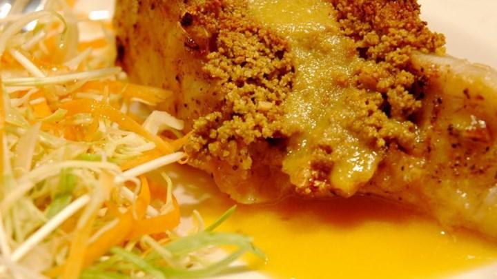Paleo Carolyn's Sensual Sea Bass Fillets with Crawfish and Crab Sauce