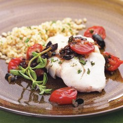 Engaging Warm Tapenade Recipe Eatingwell How Long To Bake Cod At 425 How Long To Bake Cod Fillets At 375 Roasted Cod Warm Tapenade Roasted Cod nice food How Long To Bake Cod