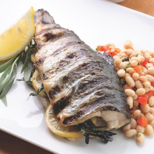 Captivating Grilled Whole Trout Bean Salad Recipe Eatingwell Grilled Trout Recipes Lemon Butter Charcoal Grilled Trout Recipes Bean Salad Grilled Whole Trout