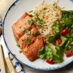 Fantastic Soy Honey Salmon Roasted Root Vegetables Garlic Adds Tons Offlavor Dinner Cook Eat Twice Eatingwell Easy Sunday Dinner Desserts Easy Sunday Dinner Recipes Easy A Marinade Two