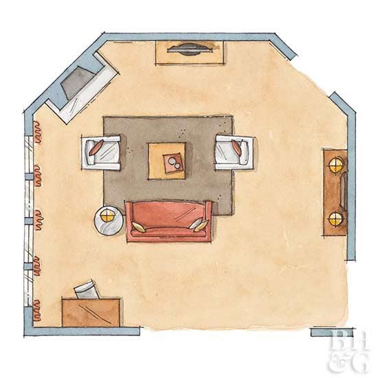 living room floor plan, floor plan