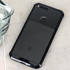 cruzerlite defence fusion google pixel bumper case black clear