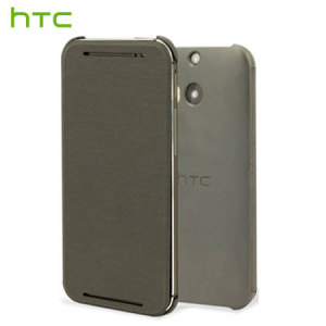 Official HTC One E8 Flip Case - Grey