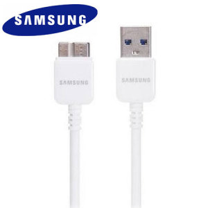 Official Samsung Micro USB 3.0 Data Cable - White