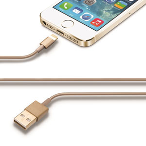 iMee Sync and Charge Lightning to USB Cable - Gold