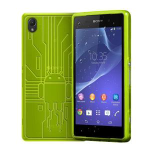 Cruzerlite Bugdroid Circuit Sony Xperia Z2 Case - Green