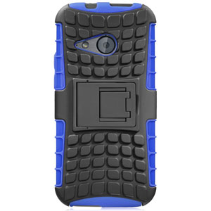 ArmourDillo Hybrid HTC One Mini 2 Protective Case - Blue