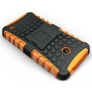 Armourdillo Hybrid Nokia Lumia 630 Protective Case - Orange
