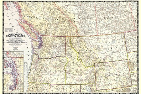 northwestern united states and caian provinces map