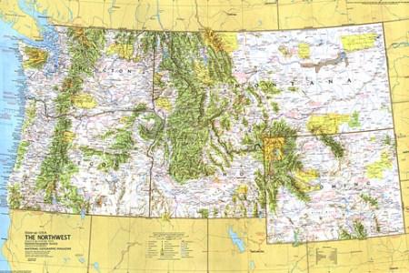close up usa, northwest map