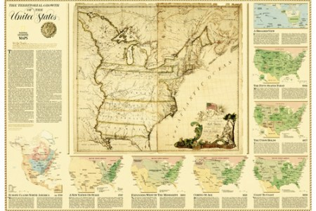 united states, territorial growth map