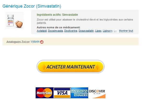 livraison rapide Zocor