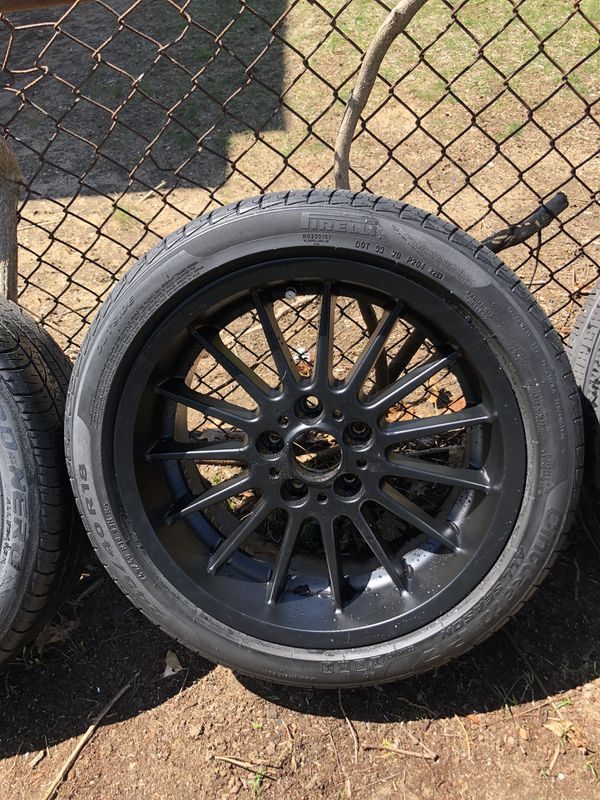 Black style 32s 18 inch fresh powder coat and good tires  550  Auto     Black style 32s 18 inch fresh powder coat and good tires  550  Auto Parts   in Rockville Centre  NY   OfferUp