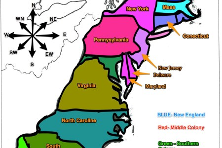 Map Of The Thirteen Colonies And Capitals - Us 13 colonies map