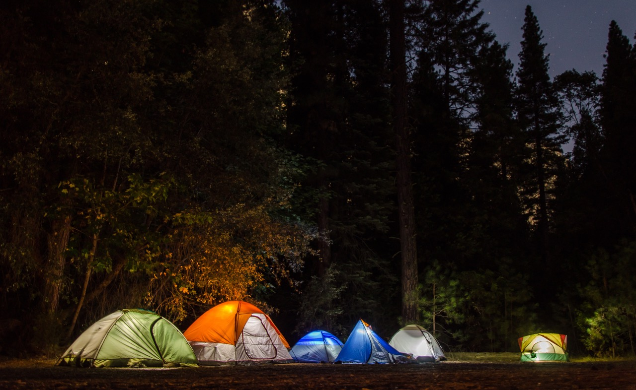 100  Engaging Camping Photos      Pexels      Free Stock Photos Six Camping Tents in Forest