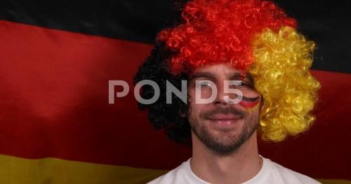 Pristine German Happy Halloween Happy German Supporter Man Show Victory Sign Football Team Championshipwinner Hi Res Happy German Supporter Man Show Victory Sign Football Team Happy German
