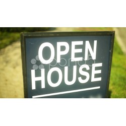 Small Crop Of Open House Sign
