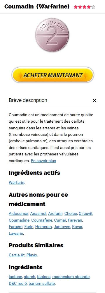 Coumadin 1 mg Prix En Pharmacie