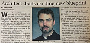 The Catholic Spirit featured Wehmeyer the weekend of his ordination