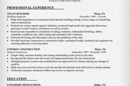 property inspector resume