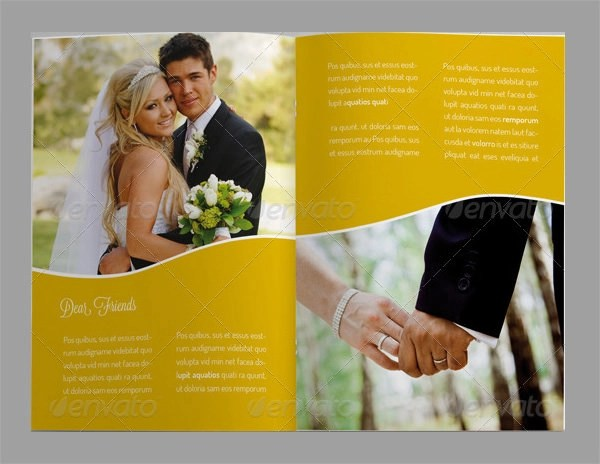 12  Wedding Brochures   Sample Templates Wedding Brochure Sample