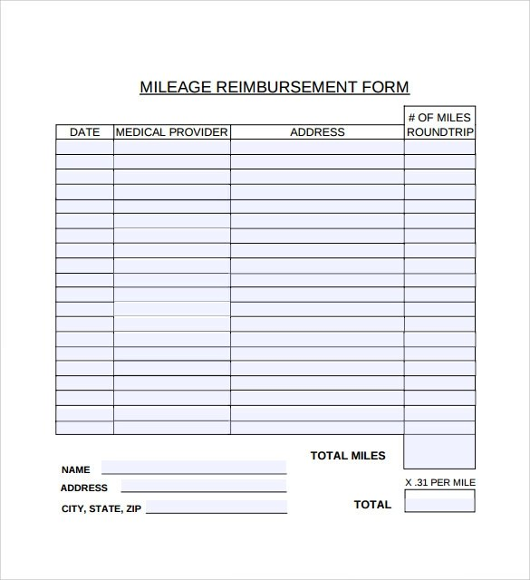 Mileage Reimburt Form | Travel Expenses Mileage Rate 2017 Anexa Creancy