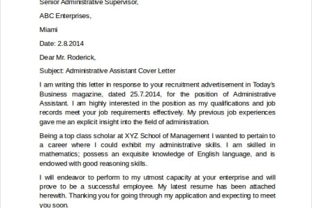 executive administrative assistant cover letter