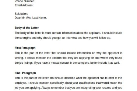 download what should a cover letter contain