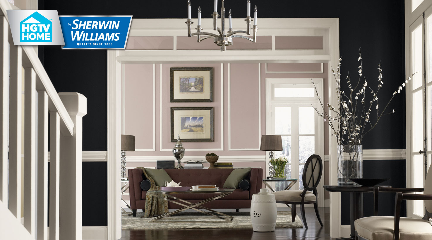 Unusual Get Inspired By Rooms We Love Liveable Luxe Paint Color Collection Hgtv By Sherwin Williams Snowbound Undertone Sherwin Williams Snowbound On Kitchen Cabinets houzz-02 Sherwin Williams Snowbound