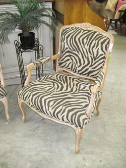 Carved+Whitewash+Accent+Chair