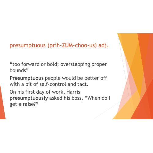 Medium Crop Of What Does Presumptuous Mean