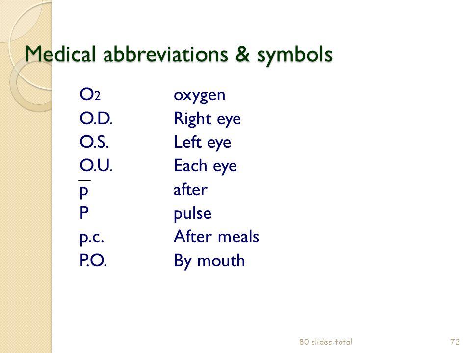 Medical Abbreviations Both Eyes Cosmeticstutor