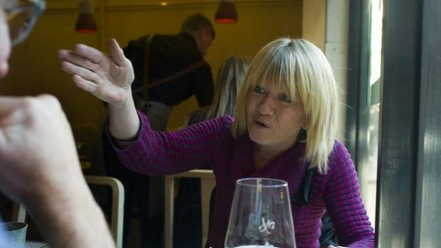 Margaret Pomeranz makes her point over lunch at Ruyi Chinese restaurant, Melbourne.