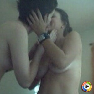 Watch as two teens strip naked and start making out