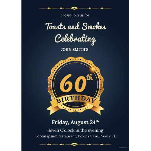 Medium Crop Of 60th Birthday Invitations