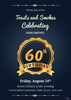 Frantic Birthday Invitation Birthday Invitation Template Adobe Illustrator 60th Birthday Invitations Black G 60th Birthday Invitations Female