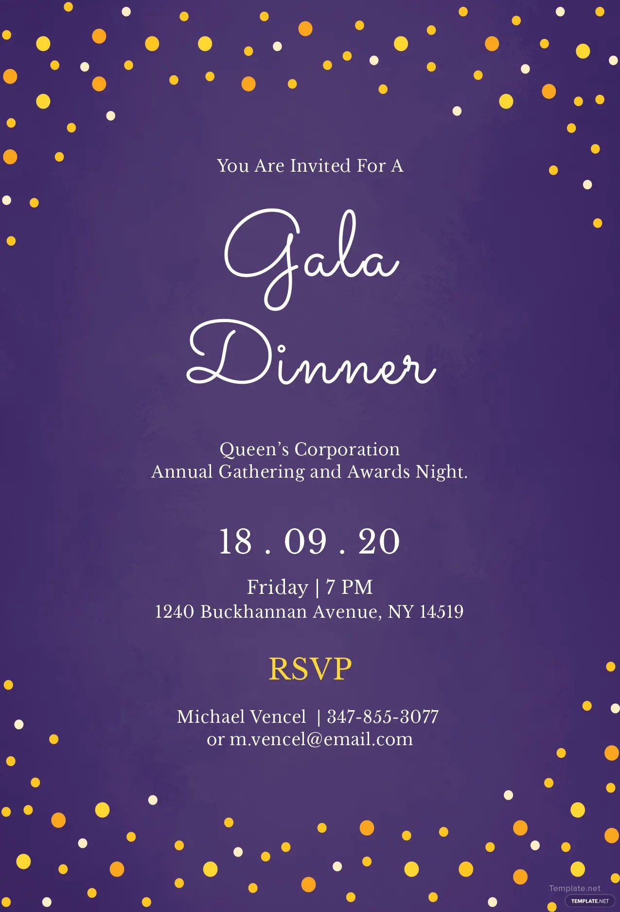 Fullsize Of Dinner Invitation Template