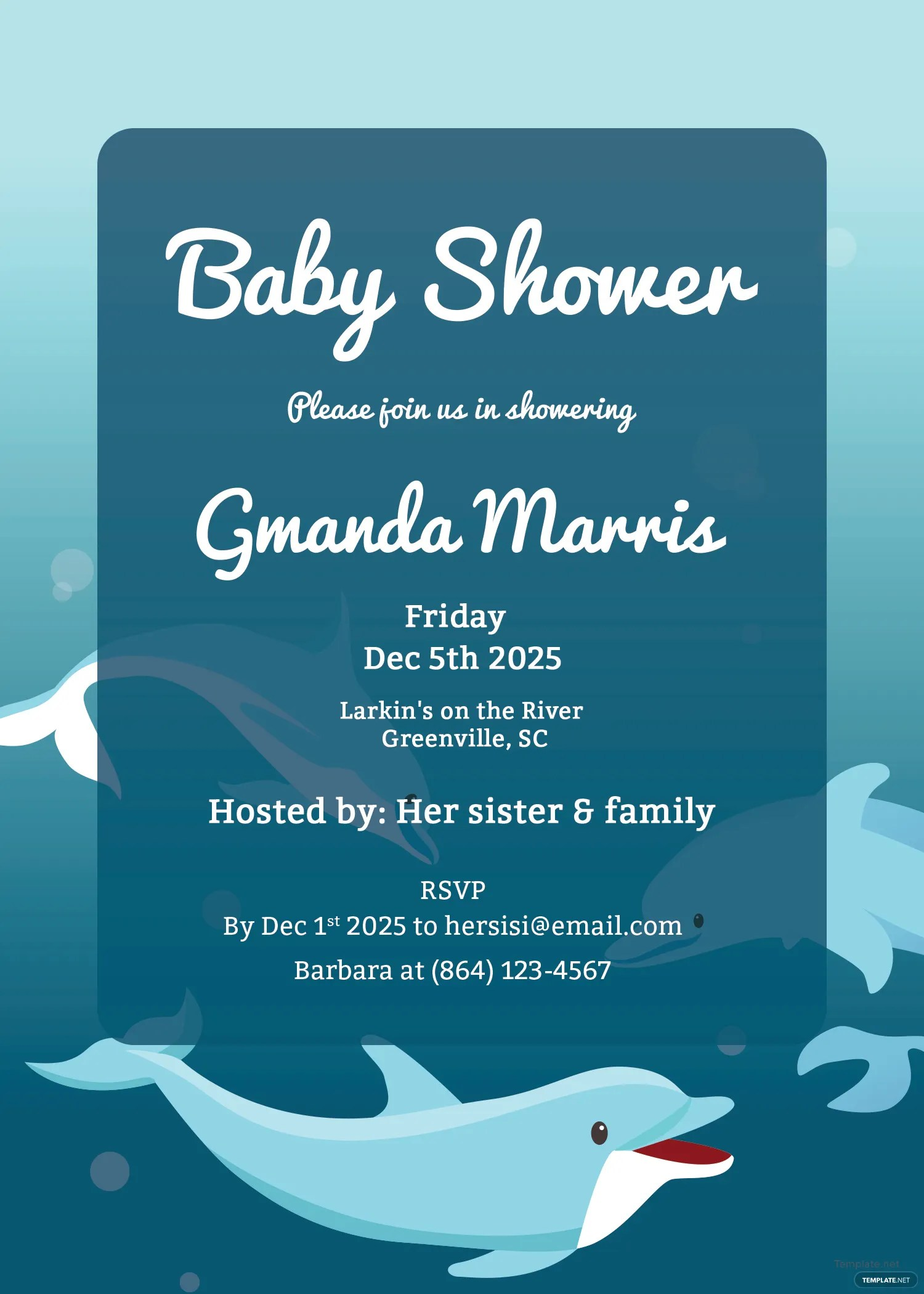 Fullsize Of Printable Baby Shower Invitations