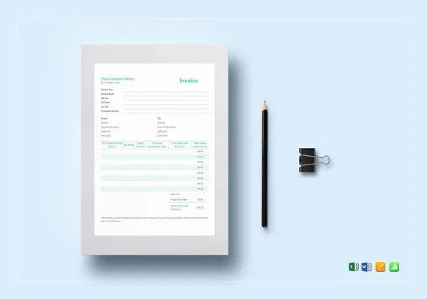 Proforma Invoice   13  Free Word  Excel  PDF Documents Download     Simple Proforma Invoice Template