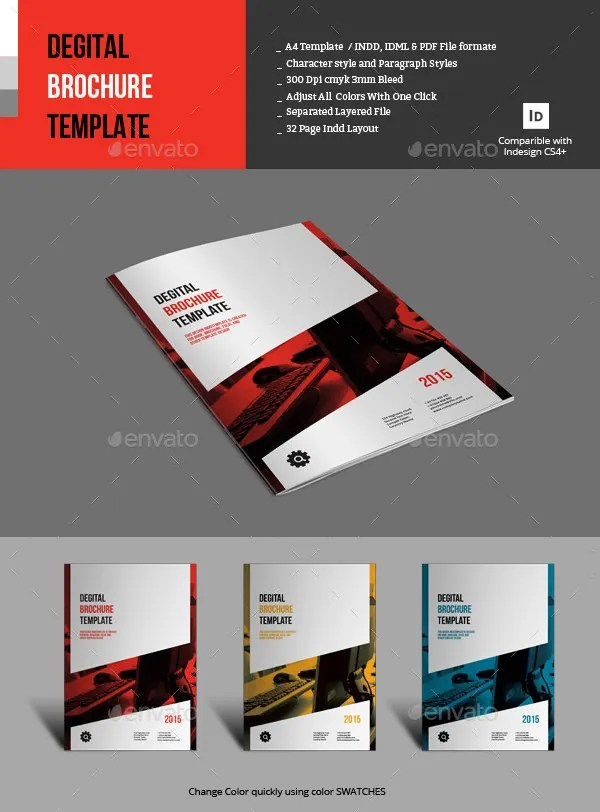 17  Fresh Digital Brochure Templates   Free PSD  Vector EPS  PNG     Indesign Degital Brochure Template