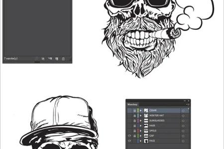 18 photoshop skull tattoo designs