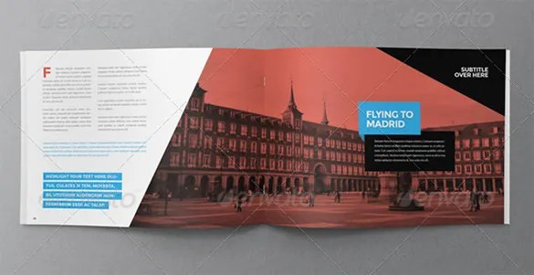 31  Modern Brochure Design Templates     PSD  InDesign  Illustration     travel modern brochure template 18